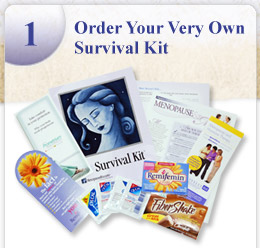 MenopauseRx Menopause Survival Kit, Full Size Product Samples, Coupons & Menopause Information